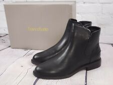 NIB - Franco Sarto Leather Booties Ankle Boots - Happily - Black - Sz 9 M