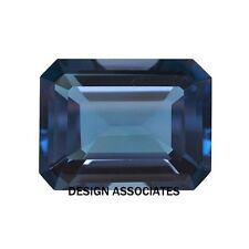 London Blue Topaz Natural 10 x 8 MM Emerald Cut  AAA