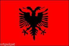 DRAPEAU ALBANIE drapeau RUBANS 100 x 140