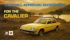 Vauxhall Cavalier Mk1 Accessories 1976 UK Market Foldout Sales Brochure