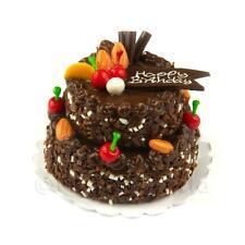 Casa Delle Bambole Grande Fatta A Mano Due Piani Rotondo Torta Al Cioccolato