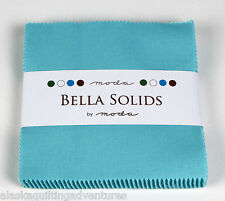 "Moda FABRIC Charm Pack ~ BELLA SOLIDS ~ ROBINS EGG BLUE (9900PP 85) 40 - 5"" sqs"