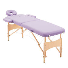 Light Weight Foldable PU Portable Massage Table Couch Bed With Carry Bag Purple