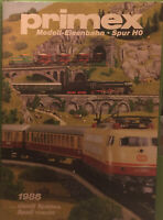 4x Primex/Märklin H0 Catalogue/Magazine/Magazine: 1986, 1987, 1988, 1989/1990 LN