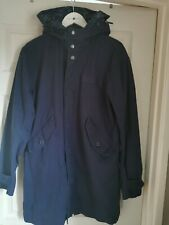 Pretty Green Navy Parka With Detachable Paisley Waterproof Hood Liner Size S /M