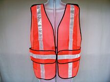 10 Condor Mesh Safety Vests Orange w/ Silver Reflective Tape 1YAN9A