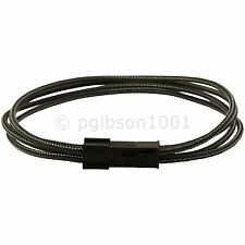 4 Pin ATX Carbon Braided Male to Female Motherboard Power Extension Cable 34 cm