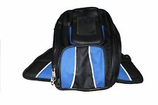 MOTORCYCLE MAGNETIC TANK BAG BLUE w/ FRONT PHONE POCKET & REFLECTIVE PIPE - V7W