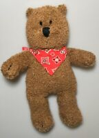 "Baby Gap Brannan Bear 13"" Plush Stuffed Animal Soft Toy Brown Teddy Bandana"