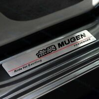 Mugen Stainless Car Door Scuff Sill Cover Panel Step for Honda CIVIC