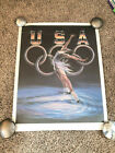 Sheila Wolk - Signed & Numbered Original Lithograph - USA Figure Skating 1988
