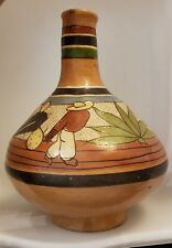 Vintage / Antique Hand Painted Mexican Folk Art Water Jug