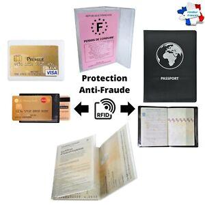Protège Passeport Francais Carte Grise Permis Carte Etui 3 Volets Transparent