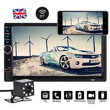 "7"" Car Stereo Radio MP5 Player Bluetooth AUX Mirror Double DIN + Reverse Camera"