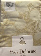 YVES DELORME VEGETAL HONEY DAMASK JACQUARD SATIN DUVET COVER SET KING