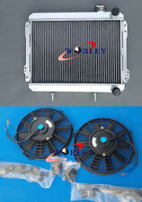 For TOYOTA Corolla RADIATOR & FANS AE71 AE72 1979 1980 1981 1982 1983 3 ROW AT