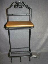Longaberger Wrought Iron 2 Tier Stack Rack WI Wall Shelf 3 Hooks For Tea Baskets
