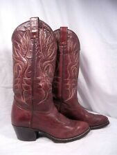 VINTAGE IMPERIAL ALL GENUINE BROWN LEATHER WESTERN COWBOY BOOTS 7.5 D WOMENS 9 W