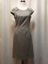 4ae0431624 Women s Neiman Marcus Exclusive Gray Sheath Dress Size 4 Short Sleeve Midi