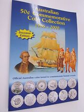 Australian Commemorative Fifty Cent 50c Coin Collection Sherwood Folder 1966-200