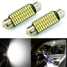 JDM ASTAR 2x 33-SMD 42mm White LED License map dome door Lights Bulbs 211-2 578