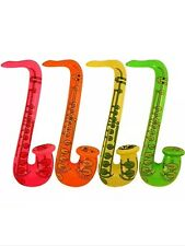 "4X INFLATABLE SAXOPHONE 75cm 30"" FANCY DRESS PARTY"
