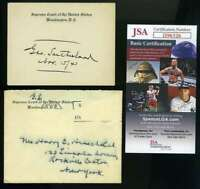 George Sutherland JSA Coa Hand Signed Supreme Court Justice Card Autograph