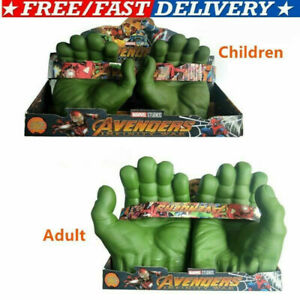Kids Adult Avengers Hulk Smash Hands Soft Toy Doll Gloves Party Cosplay Toys