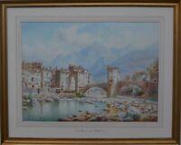 Henry Bowser Wimbush (British 1858-1943) Maritime Alps Huge Signed Watercolour