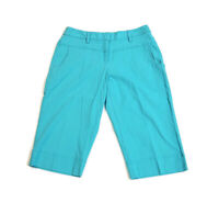 Ruby Rd. Women's Petite Capri Pants Bright Blue Cropped Stretch Casual Size 12P