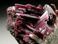 Red Erythrite Crystals on Matrix, Bou Azzer, Morocco