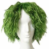 Batman The Joker Wig Grass Green Short Curly Hair Cosplay Costume Accessory