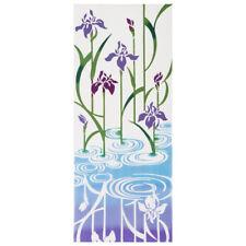 Purple Iris Tenugui Japanese Hand Towel