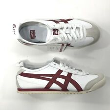 Asics Mens Onitsuka Tiger Mexico 66 White Red Retro Shoes 6 Y0106