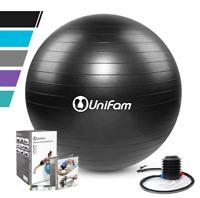 Exercise Stability Ball 65cm Chair W/Hand Pump CrossFit Yoga Balance Black