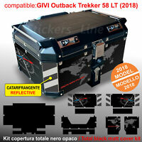 Kit adesivi COMPATIBILI bauletto top case GIVI 58 LT 2018 BMW R1200 R1250 GS T2