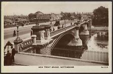 Nottinghamshire. Nottingham. New Trent Bridge - Vintage Real Photo Postcard