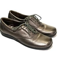 Walking Cradles Bronze Metallic Oxford Shoes Womens Size 7.5 N Lace Up Comfort