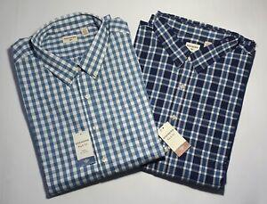 New Authentic Dockers Men's Dress Casual Button-Up Shirts Big Size 3XL SALE