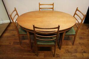 Vintage Retro Greaves & Thomas Teak Dining Table & Chairs - 1960s Mid Century