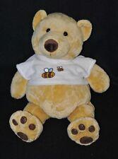 Peluche ours VENTURELLI ANGELO LELLY jaune tee shirt beige abeille 38 cm TTBE