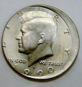 1990 P - Kennedy Half Dollar - Struck Off Center - Mint Error - Uncirculated