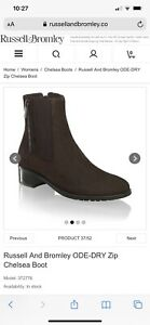 Russell & Bromley Ode-Dry Chelsea Boot 4.5 RRP £285 !