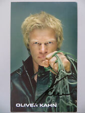 Handsignierte AK Autogrammkarte OLIVER KAHN Deutscher Sportmoderator WM 2014 #3