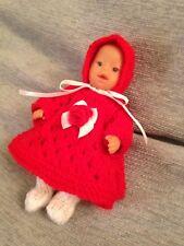 Baby Doll Vestito per adattarsi 5 Pollici Bambola Reborn Oakley (NO BAMBOLA) Rosso Mini Baby Born