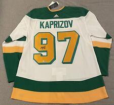 New Kaprizov Minnesota Wild adidas Reverse Retro Authentic Jersey Sz 54 Signed