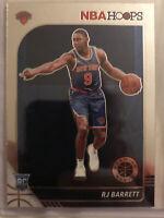RJ BARRETT 2019-20 PANINI NBA HOOPS #201 ROOKIE CARD NEW YORK KNICKS RC