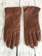 WARMEN Cashmere Lined Brown Leather Driving Gloves Women's Size 7