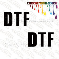 "2 of 5"" Jersey Shore DTF Down To F#$k /A car bumper vinyl sticker decals die cut"