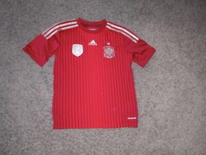 SPAIN 2010 FIFA World Champions Adidas Soccer Jersey youth Medium